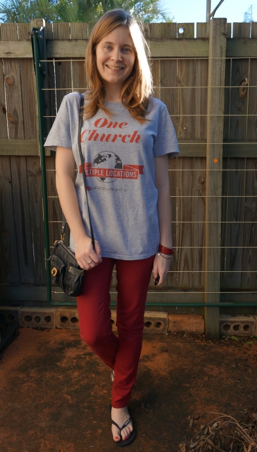 lifechurch church online grey tee pepper red skinny jeans