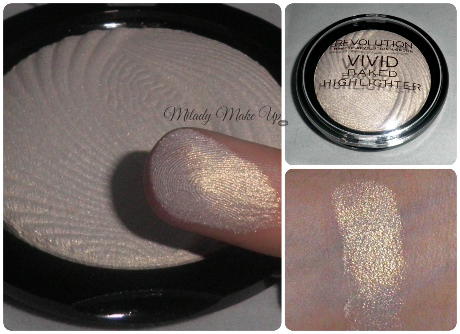 Makeup Revolution Iluminador highlighter swatch golden lights
