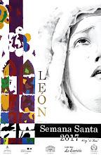 """Semana Santa de León 2017. Cartel del Blog El Seise. """"Soledad centenaria"""". Autor: Jaime Babío"""