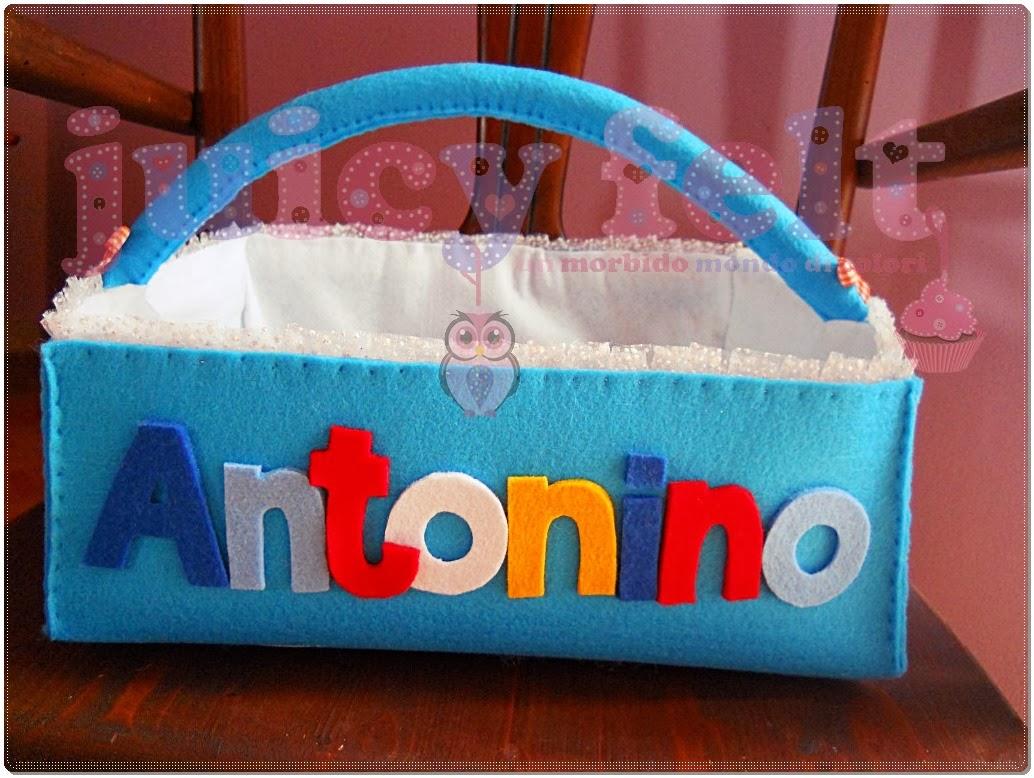 Ben noto Dopo il fiocco nascita, ecco il cestino portaconfetti di Antonino IN32