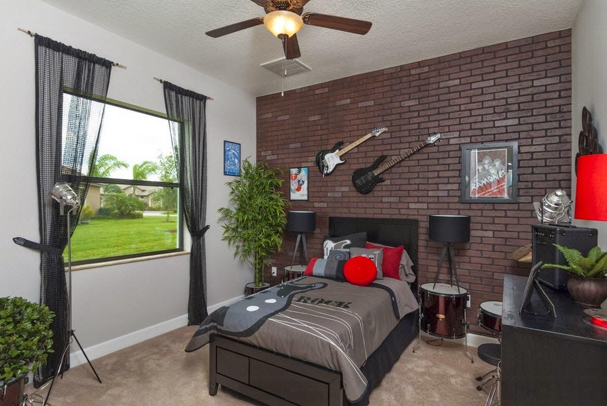 interior kamar tidur batu bata | interior rumah