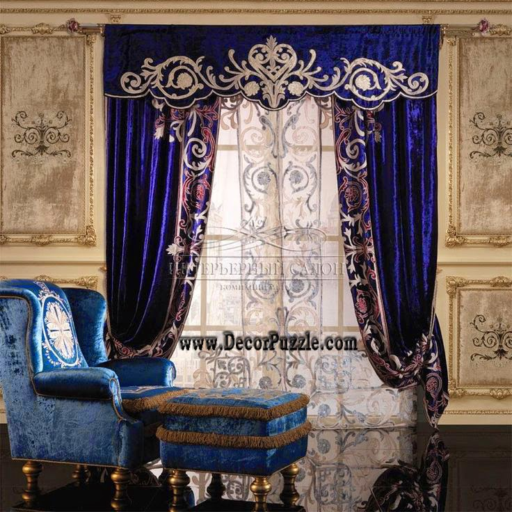 French Country Curtains Valances, Dark Blue Curtain Designs 2018
