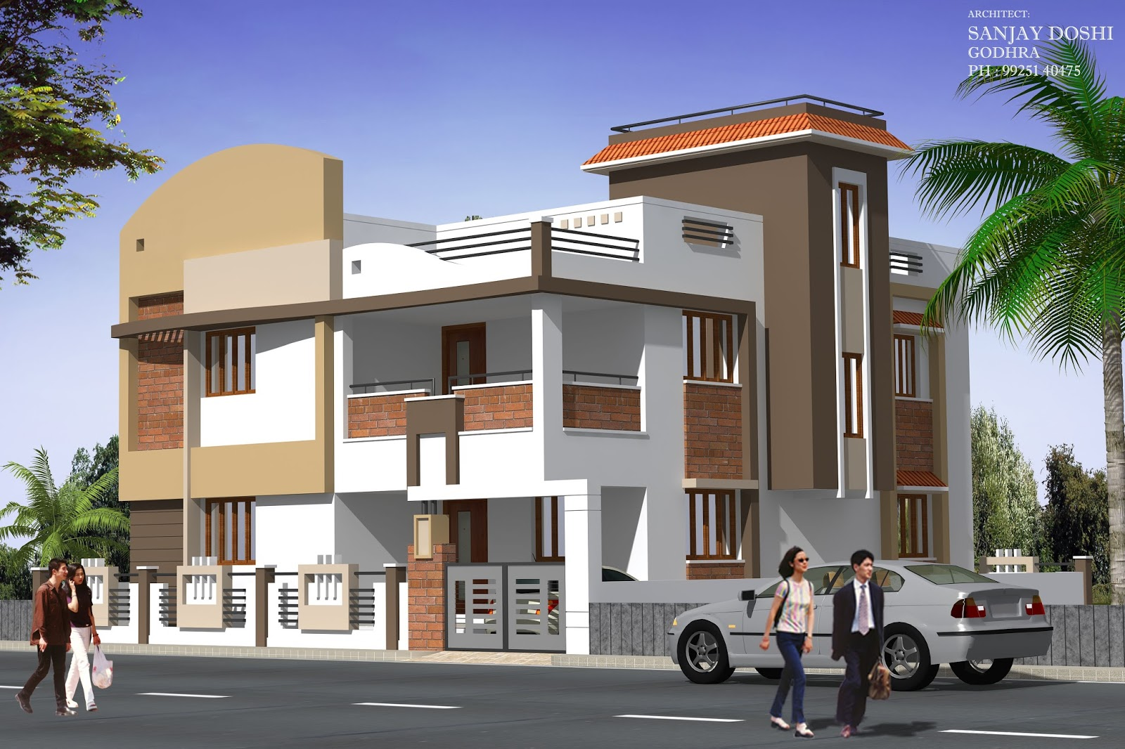 Beautiful Modern Indian Home Design Front View Ideas - Decorating ...