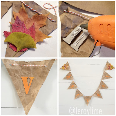 How to make a paper bag banner