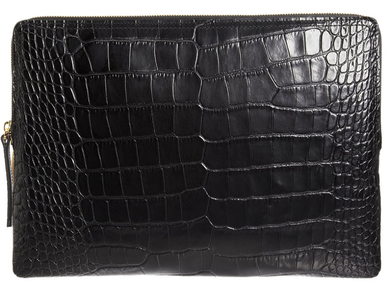 LANVIN TEXTURED CROC CLUTCH - DELUXSHIONIST SHOPPER