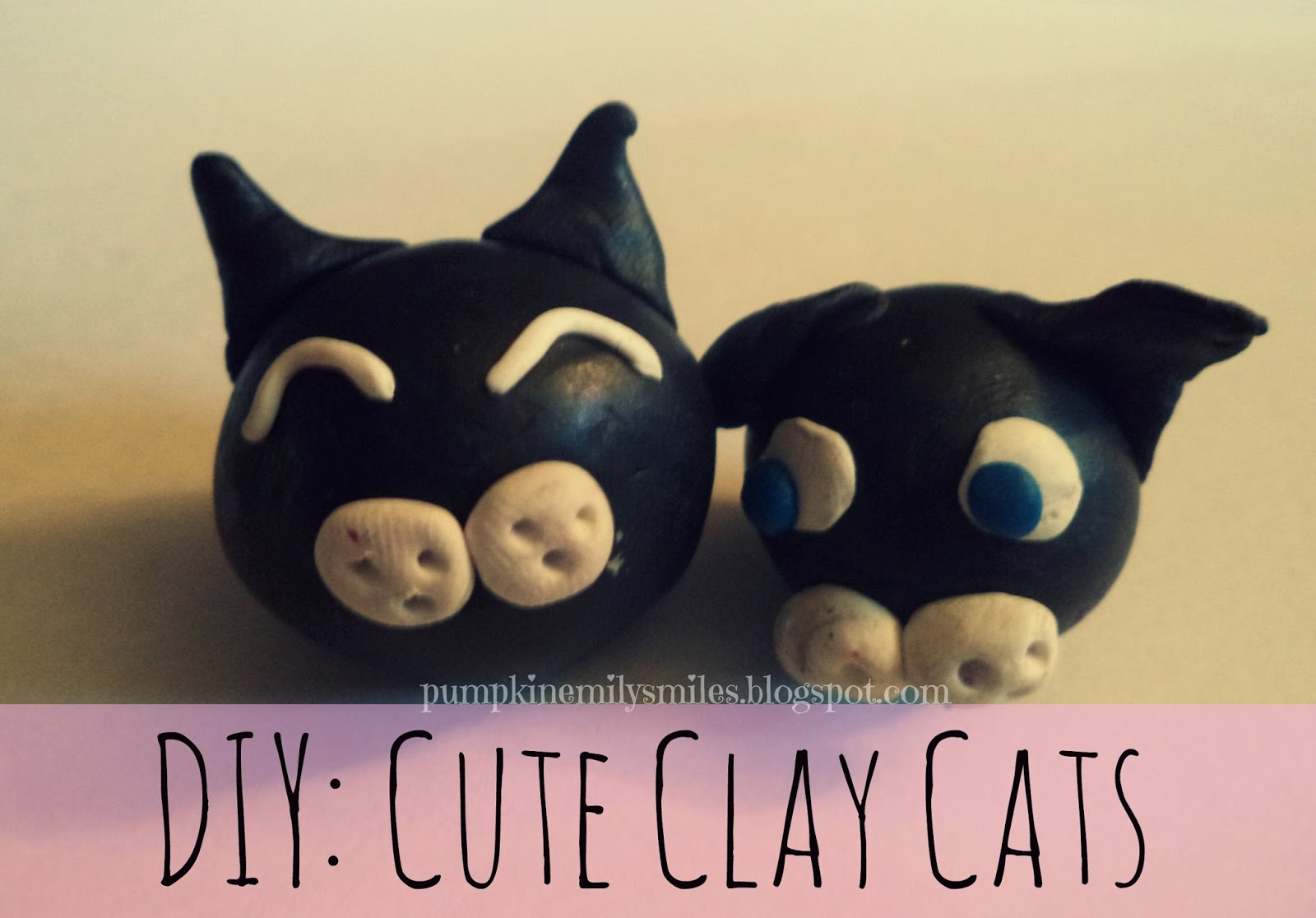 DIY: Cute Polymer Clay Cats