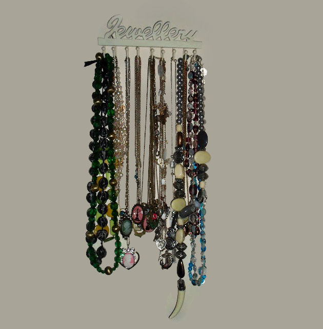 Photo of my necklace collection and storage