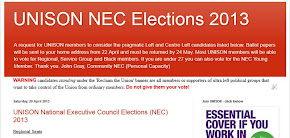 UNISON NEC Elections - Before you vote check this site out