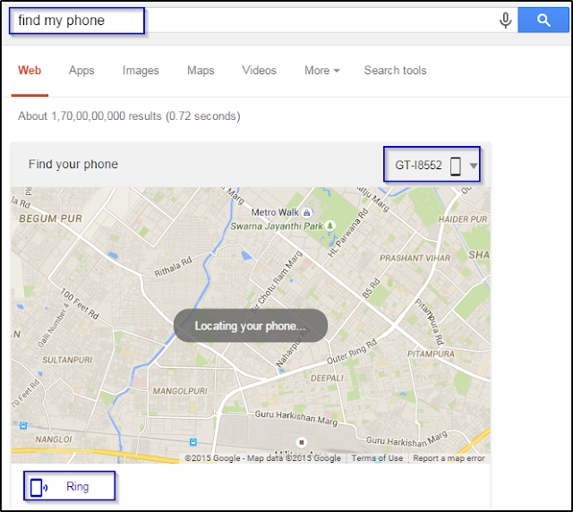 Locate your Android Smartphone by Android Device Manager