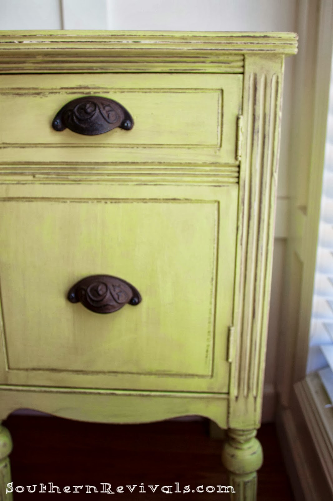 southern revivals painted furniture updating a vintage buffet with a pop of color