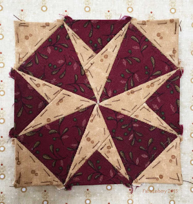 Dear Jane Quilt - Block F12 Starburst