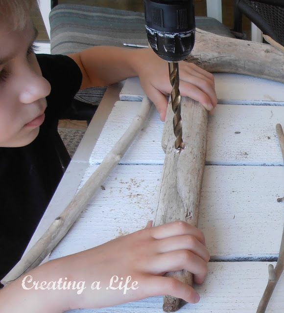 Make your own adorable driftwood sailboats, by Creating A Life, featured on I Love That Junk