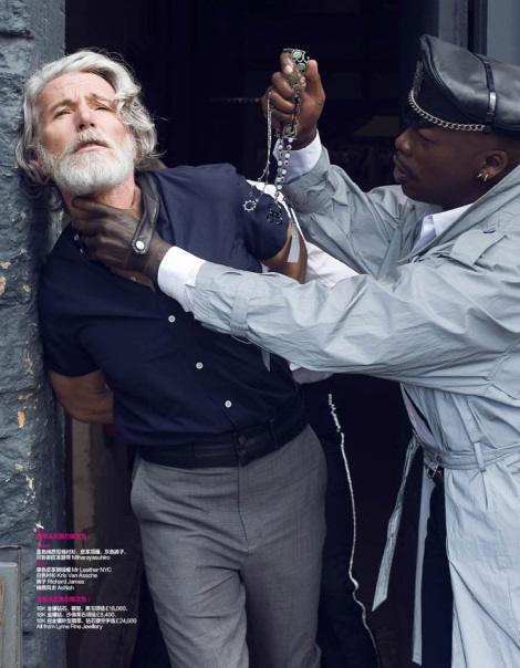 Aiden Shaw by Frederic Aranda for Harper's Bazaar China