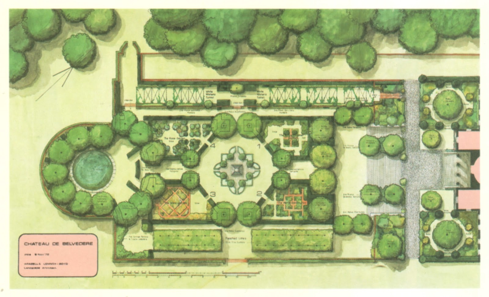 The blue remembered hills settings for Garden design 18th century