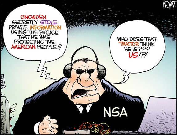 Christopher Weyant: Edward Snowden, Glenn Greenwald, NSA.