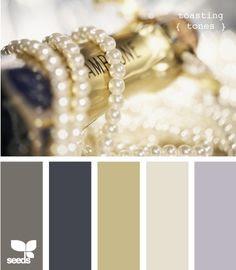 House of cards - oro y perla acentos y / o colores.
