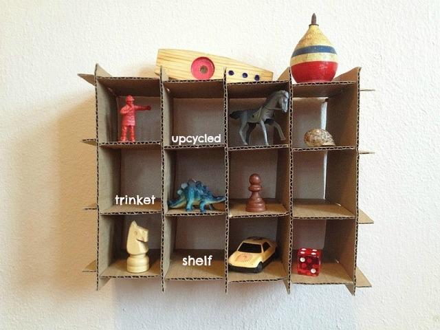 upcycled trinket shelf