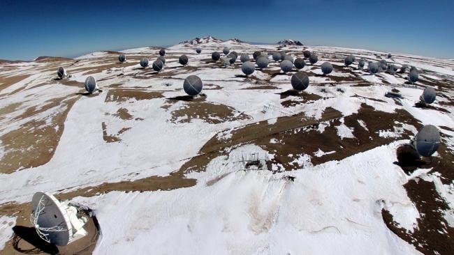 A Rare Snow in Atacama Desert of Chile