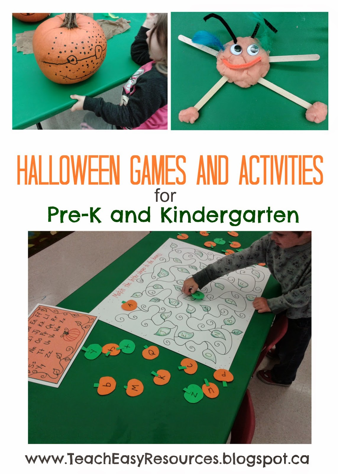 teach easy resources: halloween games and activities for pre-k and