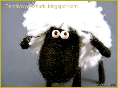 овечка из ниток своими руками