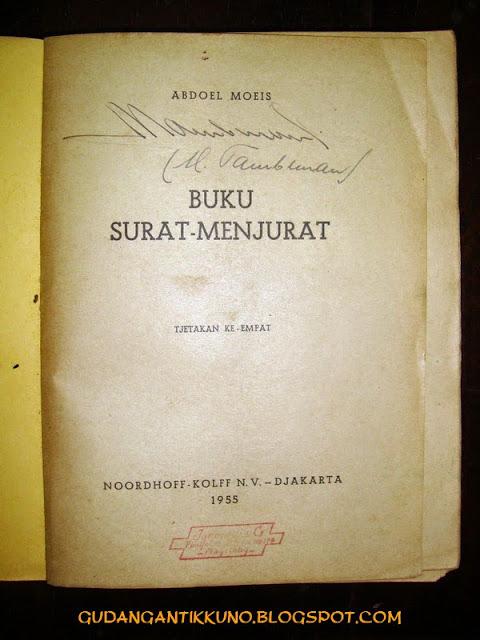 Buku Surat-Menjurat Abdoel Moeis