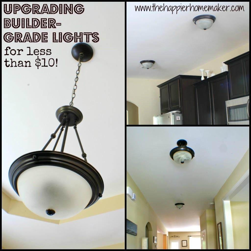 Upgrading Builder Grade Lights Sc 1 St The Happier Homemaker