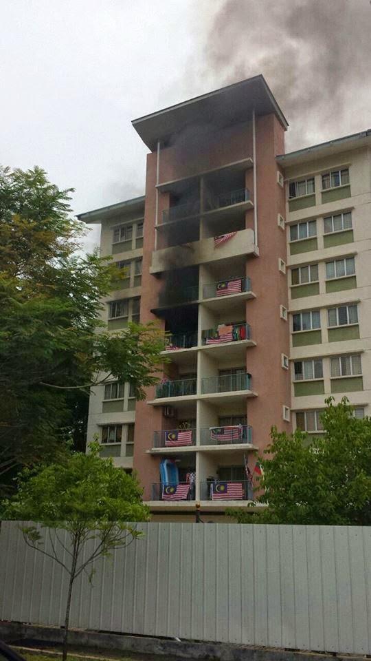Kes kebakaran Perumahan Penjawat Awam Putrajaya