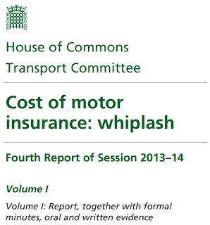 Cost of motor  insurance: whiplash