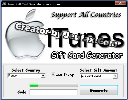 iTunes Gift Card Generator 2013 *Working*