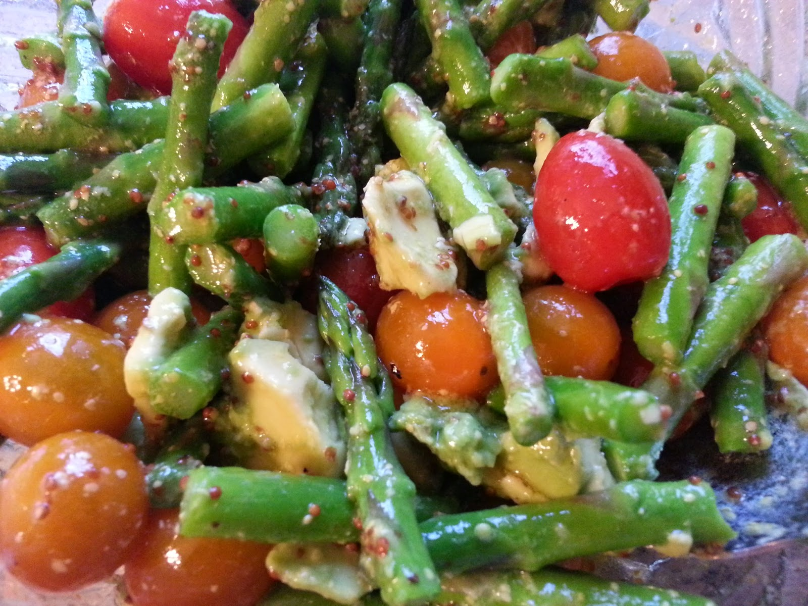 ... Miles North of Nowhere?: Asparagus, Tomato, and Avocado Salad