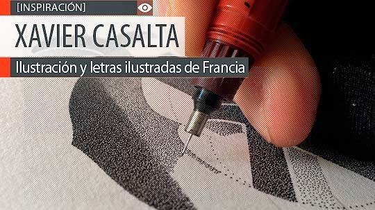 Ilustración y letras ilustradas de XAVIER CASALTA