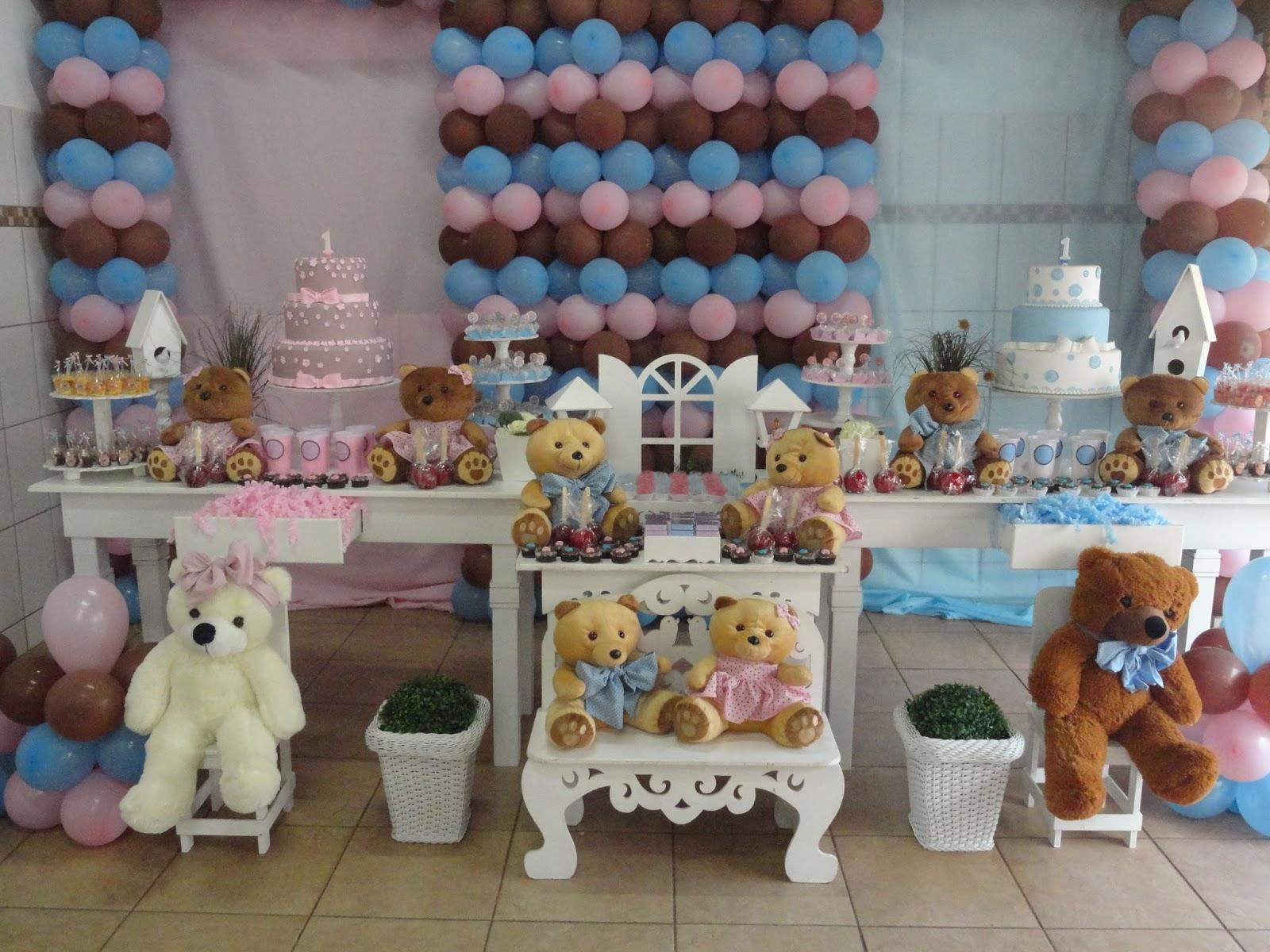 Conhecido Lidiane Decoração infantil TEM FESTAS- 34236880: Ursos (casal de  SS94