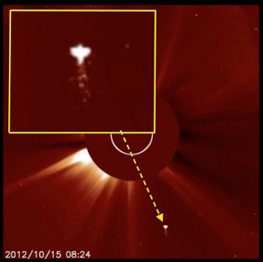 Angelic UFO Travels Toward Sun In NASA Photo, Oct 15, 2012.