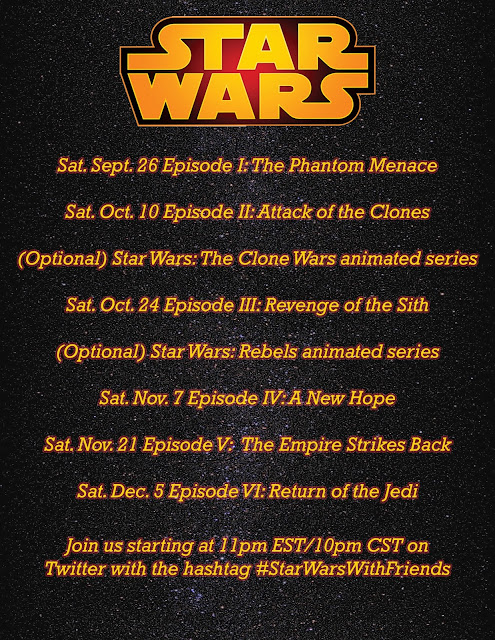 #StarWarsWithFriends viewing schedule