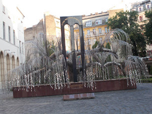 """The Raoul Wallenberg Holocaust memorial in the """"Great Synagogue"""" complex."""