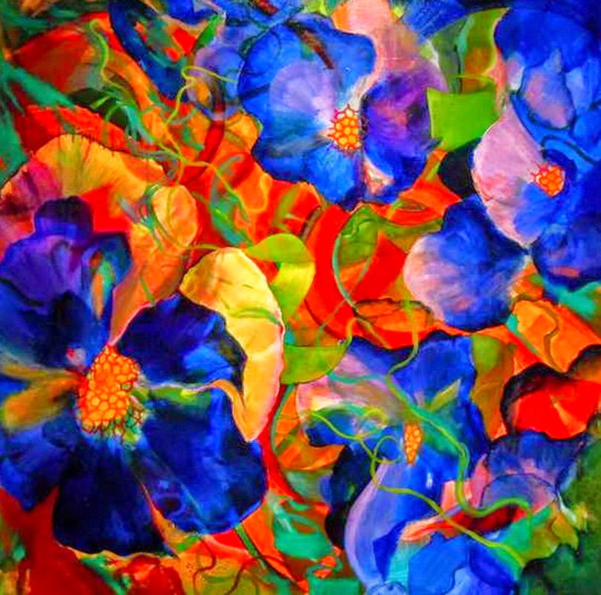 pinturas-de-abstractos-flores