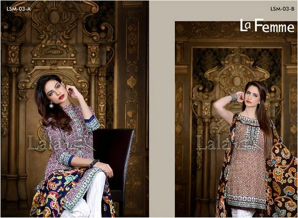 LALA La Feme Winter Dress Collection 2014-2015