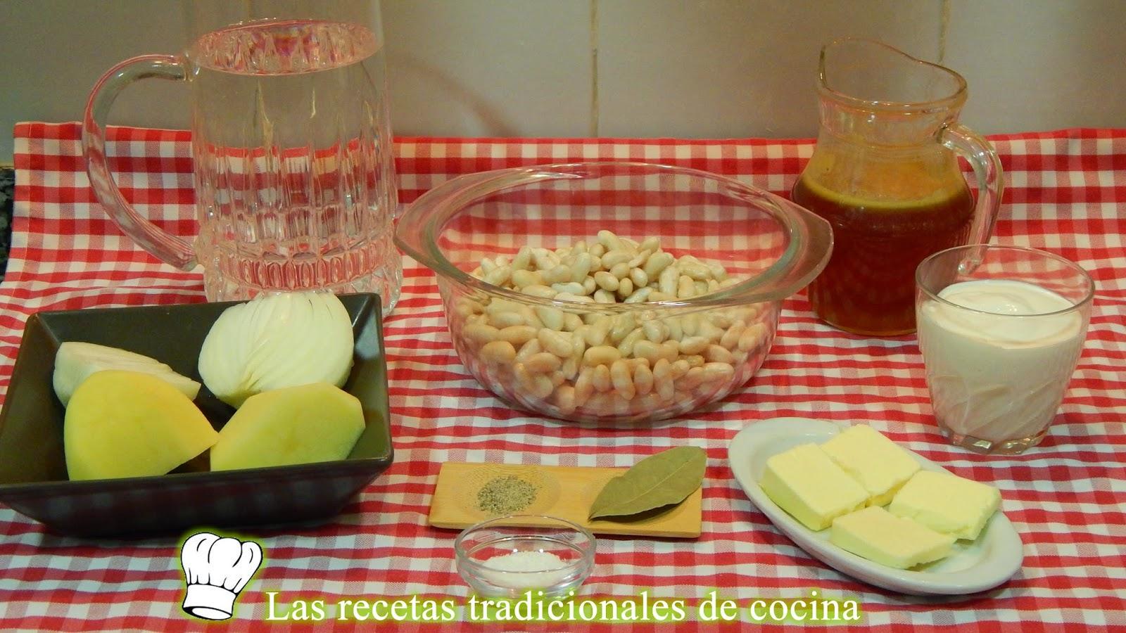 Receta de crema de alubias
