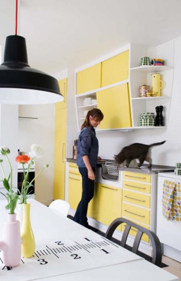Diseño de Cocinas en colores Rojo y Negro | Cocina y Muebles