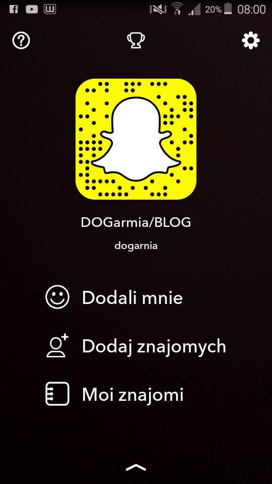 Dodaj mnie na Snapchacie:
