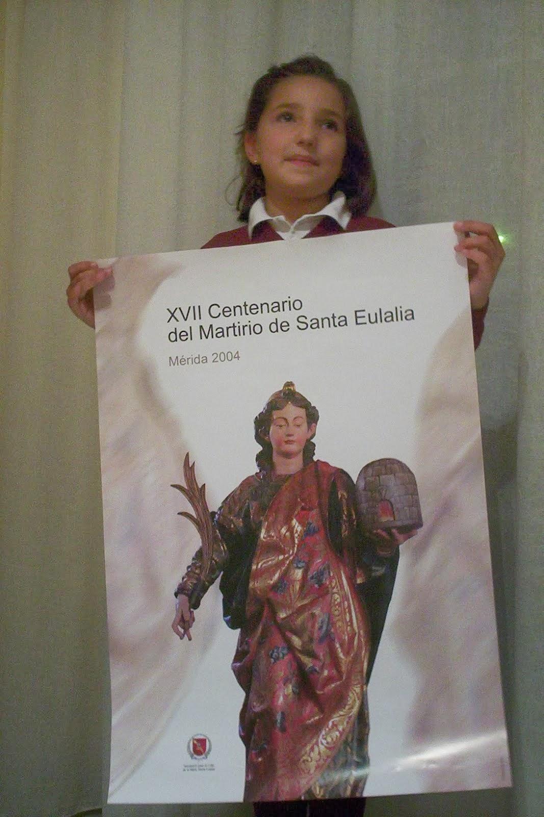 Cartel del XVII Centenario del Martirio de Santa Eulalia.
