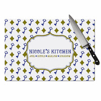 Chic-Antique-Personalized-Cutting-Board-Blue