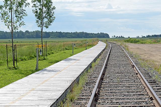 Les rails à la gare de Baie-Saint-Paul