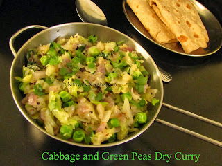 Cabbage and Green Peas Dry Curry