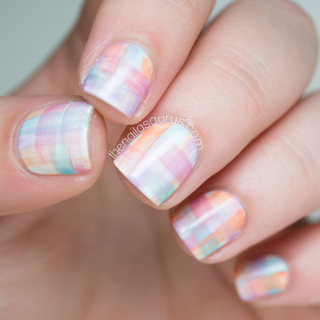Streaky Watercolor Nail Art | The Nailasaurus