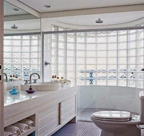 DECORA INTERI Decoração com Tijolos de vidro -> Decoracao De Banheiro Com Tijolos De Vidro