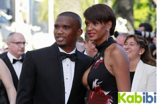 Samuel Eto'o with Wife