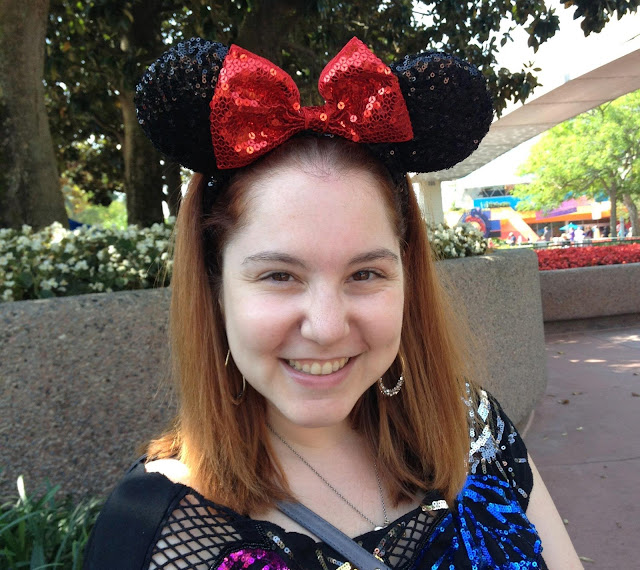 Throwback Thursday, #tbt, Jamie Allison Sanders, hats, hat obsession, fashion, Disney World, sparkly Minnie Mouse ears