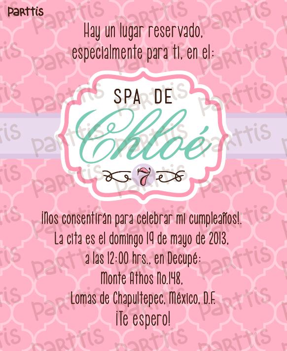 PARTTIS: Fiesta Spa de Chloé :: una relajante celebración