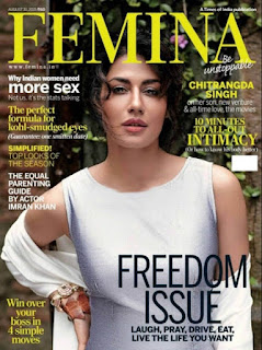 Chitrangada Singh looks Cute on the Femina India Cover Page August 2015